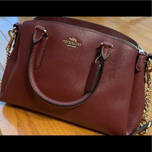 Coach wine crossbody purse